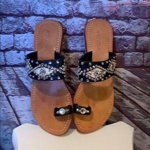 MYSTIQUE studded sandals size 7